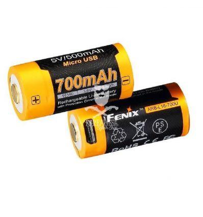 Fenix ARB-L16-700 16340 Battery USB