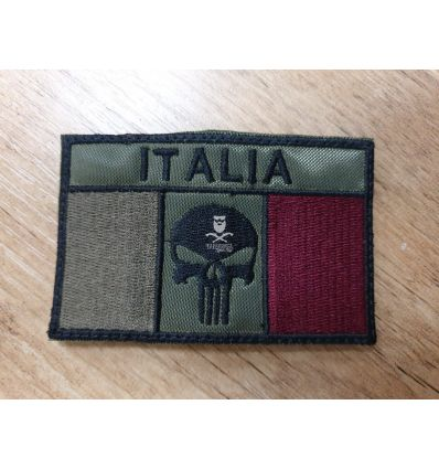 Patch Italia Punisher Bassa Visibilità