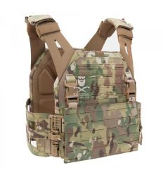 Warrior Laser Cut Low Profile Carrier V2 With ladder Sides - MultiCam