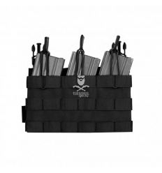 Warrior Removable Triple MOLLE Open Pouch for RPC - Black