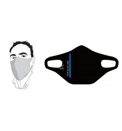 THIN BLUE LINE Face Mask