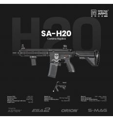 Specna Arms SA-H20 EDGE 2.0™ Carbine Replica - Black - (SPE-01-028551)
