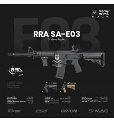 Specna Arms SA-E03 EDGE™ RRA Carbine Replica - Black - (SPE-01-023918)