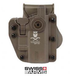 Swiss Arms Fondina ADAPT-X Rigida Universale Ambidestra - Tan