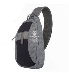 EDC Sling Backpack - Nylon Polyester Blend - Black-Grey Melange