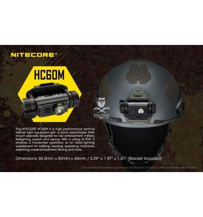 Nitecore - HC60M - Frontale NVG Mount - Ricaricabile USB - 1000 lumens