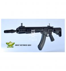 BOLT - BR47 Keymod QDC Black - EBB (con recoil di IV)