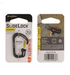 Nite Ize - SlideLock® Carabiner Aluminum 2 - Charcoal