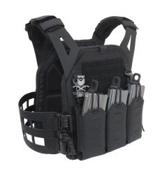 Warrior Laser Cut Low Profile Carrier V2 With ladder Sides - Black