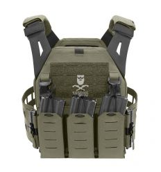 Warrior Laser Cut Low Profile Carrier V2 With Triple Bungee 5.56 Ranger Green