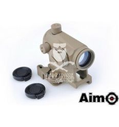 AIM Micro Dot T1 con QD e Hi Mount Base Tan