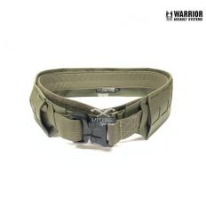 Warrior Low Profile Laser Belt with Polymer Cobra Belt - Ranger Green