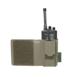 Warrior Laser Cut Wing Velcro Adjustable Radio Pouch Left Side Ranger Green