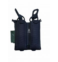 Warrior Laser Cut Double Bungee Pistol Pouch - Black