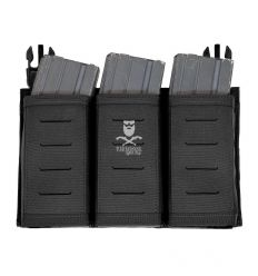 Warrior Laser Cut Detachable Triple Snap Mag Panel – Black