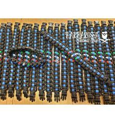 Bracciale Paracord Thin Blue Line Black + ITA