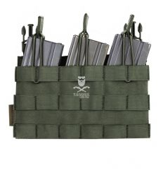Warrior Removable Triple MOLLE Open Pouch for RPC - OD