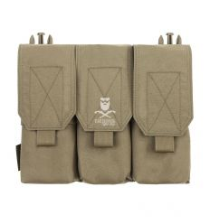 Warrior Detachable Triple Covered M4 Pouch – Coyote Tan