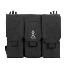 Warrior Detachable Triple Covered M4 Pouch – Black
