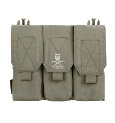 Warrior Detachable Triple Covered M4 Pouch – Ranger Green