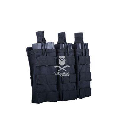 Tasca tripla porta caricatori da M4/M16 open top BLACK