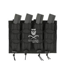 Quadrupla Porta Caricatori da MP5/SMG Molle - Black