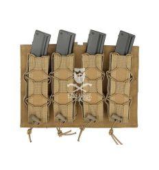 Quadrupla Porta Caricatori da MP5/SMG Molle - Coyote