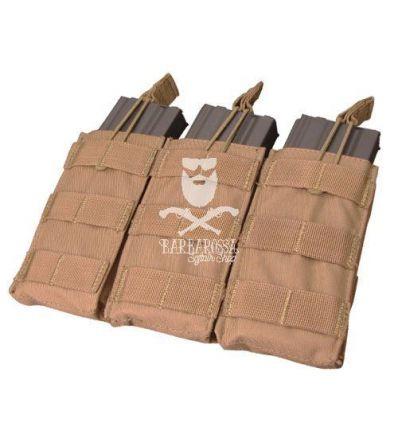 Tasca tripla porta caricatori da M4/M16 open top TAN