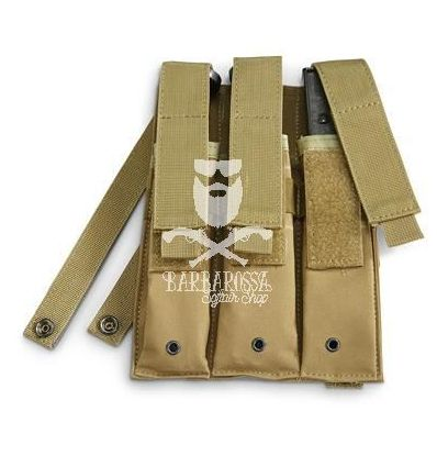 Tasca tripla porta caricatori MP5 Tan
