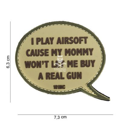 Patch 3D I Play Airsoft - Tan