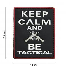 Patch 3D Keep Calm and Be Tactical