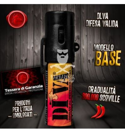 Spray antiaggressione al peperoncino DIVA BASE