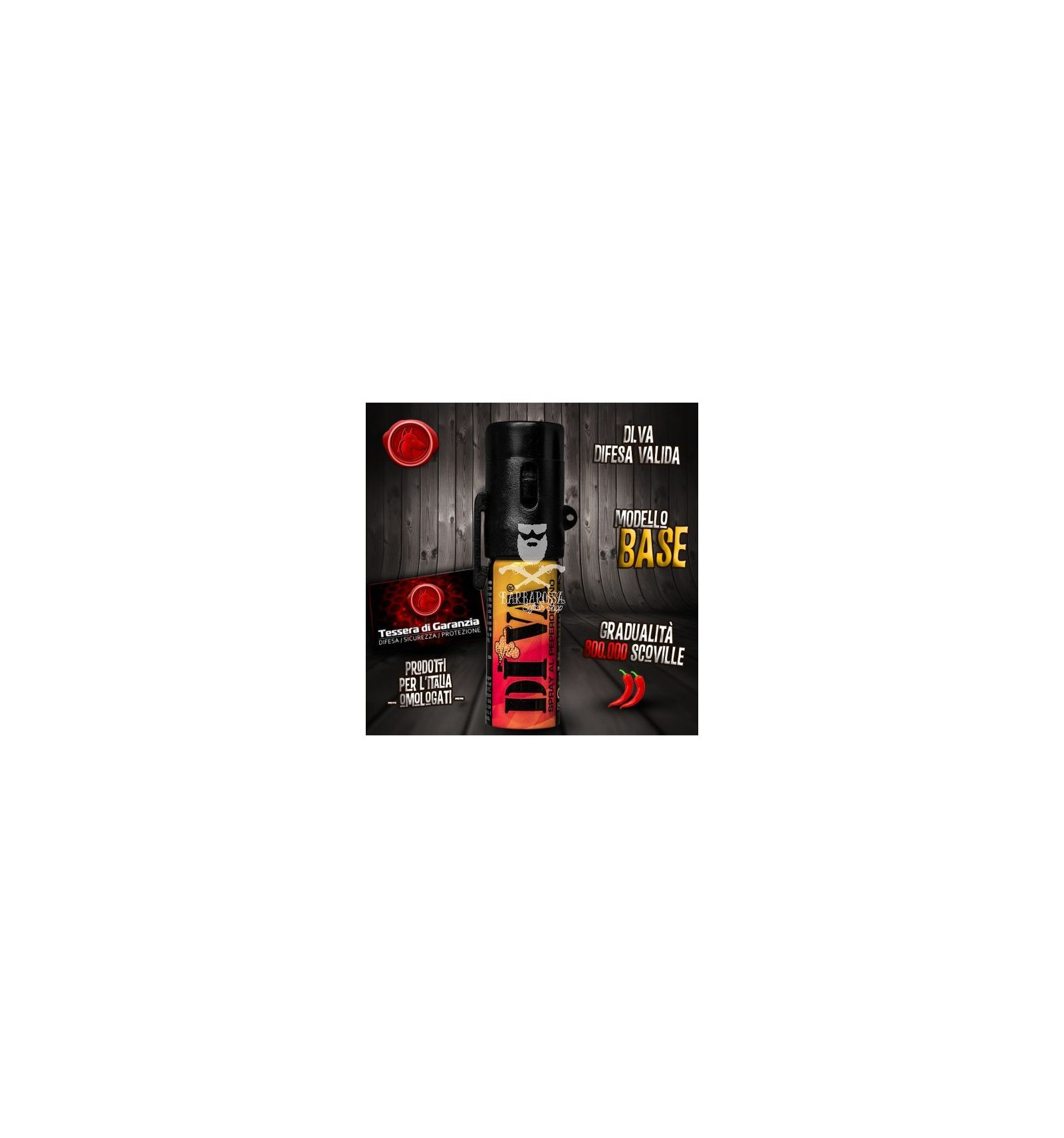 Spray antiaggressione al peperoncino diva base - Spray al peperoncino diva top camo ...