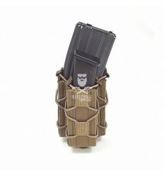 WARRIOR SINGLE QUICK MAG WITH SINGLE PISTOL POUCH COYOTE TAN