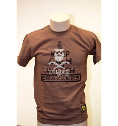 T-Shirt Keep Calm and Watch Brazzers