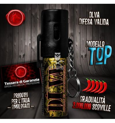 Spray antiaggressione al peperoncino DIVA TOP