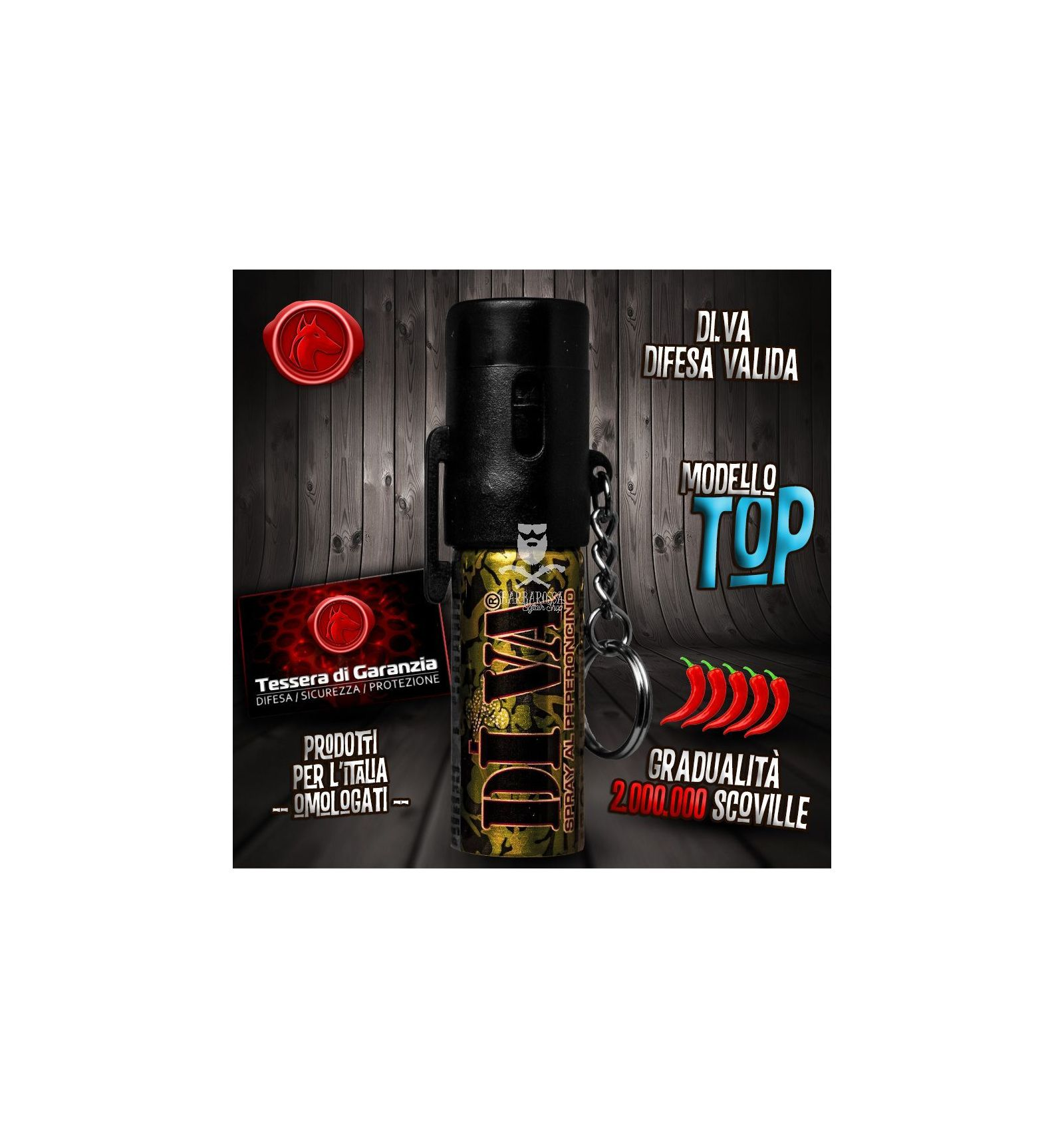 Spray antiaggressione al peperoncino diva top barbarossa softair - Diva spray al peperoncino ...