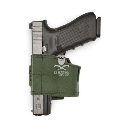 Warrior Universal Pistol Holster Left Hand - Olive Drab