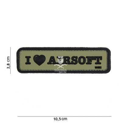 Patch I Love Airsoft - Verde