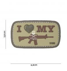 Patch I Love my M4 - Coyote