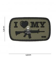 Patch I Love my M4 - OD