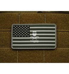 Patch US Flag SWAT- Grey