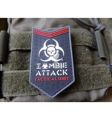 Patch Zombie Attack Rubber - Black