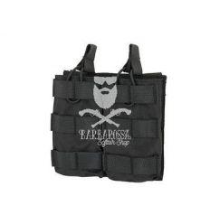Tasca Doppia Porta Caricatori Open da M4/M16 - Black