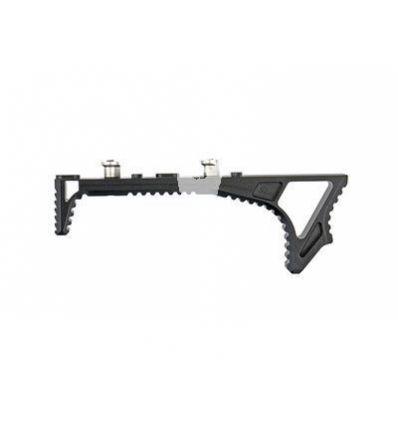 Multi-Functional Angled Foregrip/Handstop for Key-Mod Handguard - Black