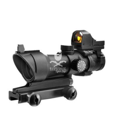 Acog 4X32 Scope con Mini Dot - Black