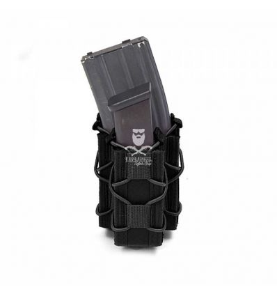 WARRIOR SINGLE QUICK MAG WITH SINGLE PISTOL POUCH - Black