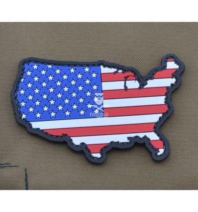 Patch 'USA Shape Flag'