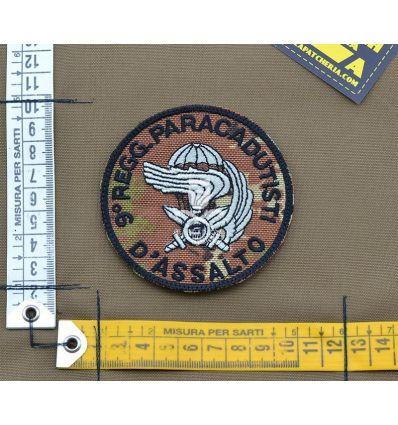 Patch '9 Rgt. Paracadutisti D'Assalto' - Vegetata