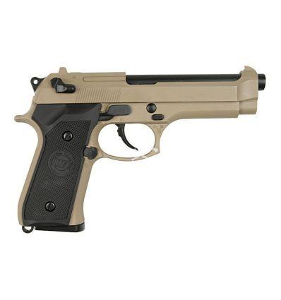Beretta M92 WE a Gas Scarrellante - Tan